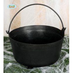 Chaudron noir 32 cm Déco festive 26286