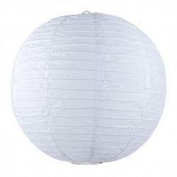 Lanterne japonaise blanche 50 cm Déco festive 5022L
