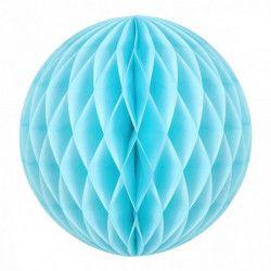 Boule alvéolée bleu dragée 30 cm Déco festive 50223L