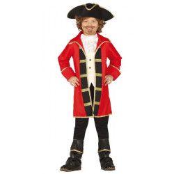 Déguisements, Déguisement pirate rouge et noir garçon 3-4 ans, 88506, 29,90€