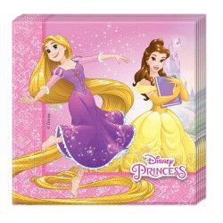 Serviettes papier x 20 Princess Heart Strong Déco festive LPRI87879