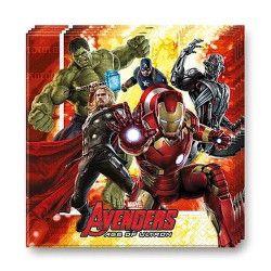 Serviettes papier x 16 Avengers age of Ultron™ Déco festive LAVE86541