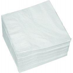 Lot 100 serviettes papier blanc 30 x 30 cm Déco festive S20033