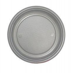 Lot 50 assiettes dessert gris argent 17 cm Déco festive V40017GR