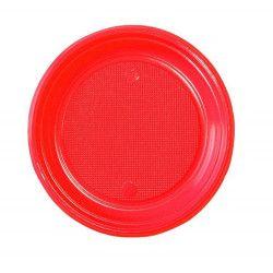 Lot 50 assiettes dessert rouge 17 cm Déco festive V40017RG