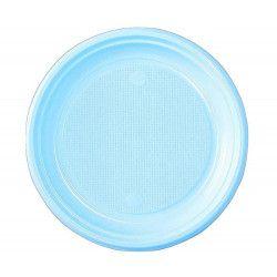 Lot 30 assiettes rondes bleu pastel 22 cm Déco festive V40122BP