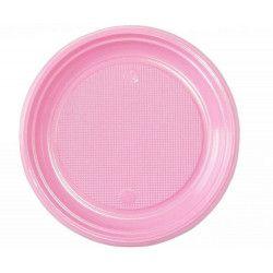 Lot 30 assiettes rondes rose pastel 22 cm Déco festive V40122RP