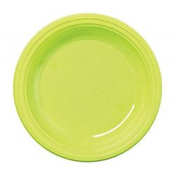 Déco festive, Lot 30 assiettes rondes vert anis 22 cm, V40122VA, 4,90€