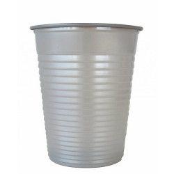 Lot 50 gobelets plastique gris argent 20 cl Déco festive V40204GR