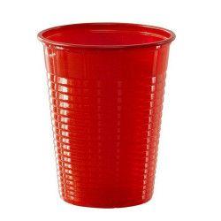 Lot 50 gobelets plastique rouge 20 cl Déco festive V40204RG