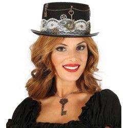 Accessoires de fête, Chapeau haut de forme steampunk femme, 13025, 12,90€