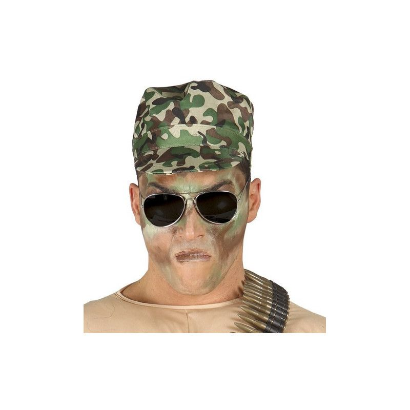 Casquette militaire camouflage adulte Accessoires de fête 13135