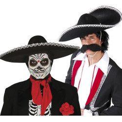 Chapeau mexicain noir adulte Accessoires de fête 13944
