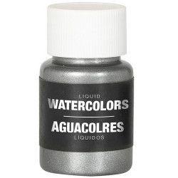Flacon maquillage à l'eau argent 28 ml Accessoires de fête 15727
