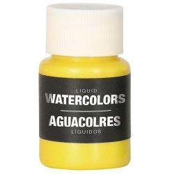 Accessoires de fête, Flacon maquillage à l'eau jaune 28 ml, 15729, 3,90€