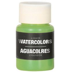 Flacon maquillage à l'eau vert 28 ml Accessoires de fête 15737