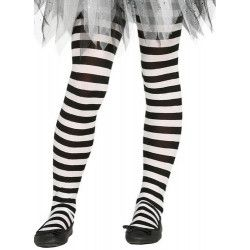 Collants blancs et noirs enfant taille 5-9 ans Accessoires de fête 17216