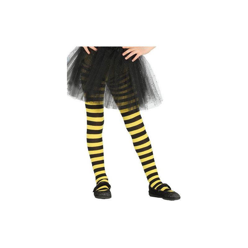 Collants jaunes et noirs enfant taille 5-9 ans Accessoires de fête 17217