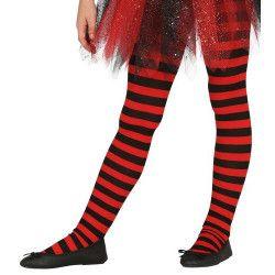 Collants rouges et noirs enfant taille 5-9 ans Accessoires de fête 17218