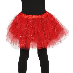 Tutu rouge à paillettes enfant Accessoires de fête 17315