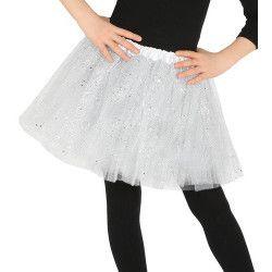 Tutu blanc à paillettes enfant Accessoires de fête 17321