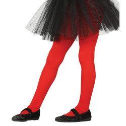 Collants rouges opaque enfant taille 5-9 ans Accessoires de fête 17343