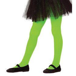 Collants verts opaque enfant taille 5-9 ans Accessoires de fête 17344