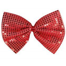 Accessoires de fête, Noeud papillon rouge à sequins, 17707, 3,40€