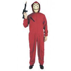 Déguisements, Déguisement braqueur rouge Masque inclus taille M, 865790, 20,90€