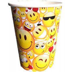 Gobelets jetables Emoji x 6 Déco festive GEMO608EM