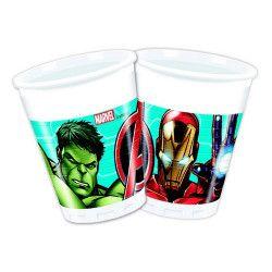 Gobelets anniversaire Mighty Avengers™ x 8 Déco festive LAVE87964