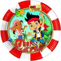 Assiettes anniversaire Jake Le Pirate™ x 8 Déco festive LJAK82607