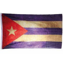 Drapeau Cuba vintage 150 x 90 cm Déco festive 00/0795