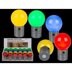 Ampoule led colorée avec aimant 4.5 cm Déco festive 101485