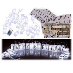 Guirlande lumineuse lettres et symboles 3 m Déco festive 260114