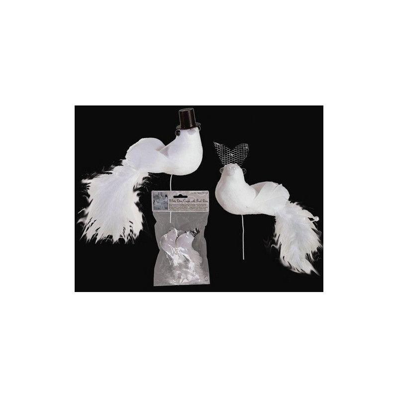 Couple de colombes blanches décoration mariage Déco festive 719188/1