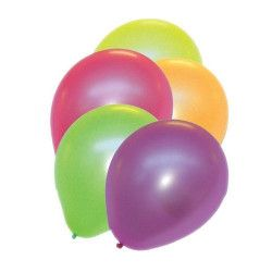 Déco festive, Sachet 10 ballons fluo diam 26 cm, 36429, 1,90€