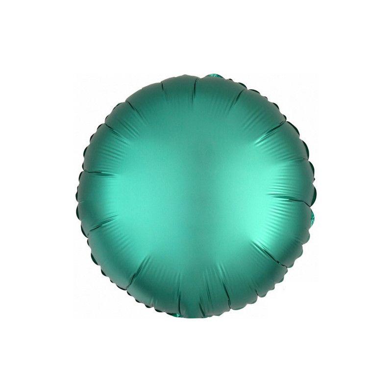 Ballon métallisé Satin Luxe Jade rond 43 cm Déco festive 3679801