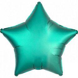 Ballon métallisé Satin Luxe Jade étoile 43 cm Déco festive 3680001