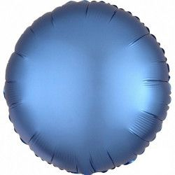 Ballon métallisé Satin Luxe Azure rond 43 cm Déco festive 3680801