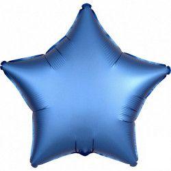 Ballon métallisé Satin Luxe Azure étoile 43 cm Déco festive 3681101