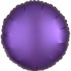 Ballon métallisé Satin Luxe Purple Royale rond 43 cm Déco festive 3681701