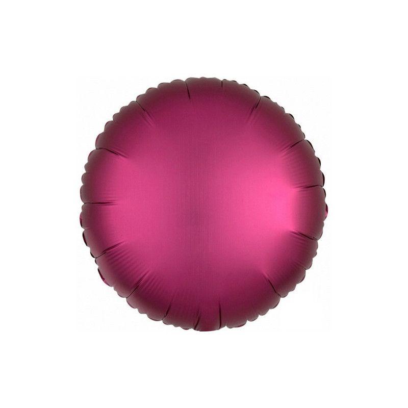 Ballon métallisé Satin Luxe Grenade rond 43 cm Déco festive 3682701
