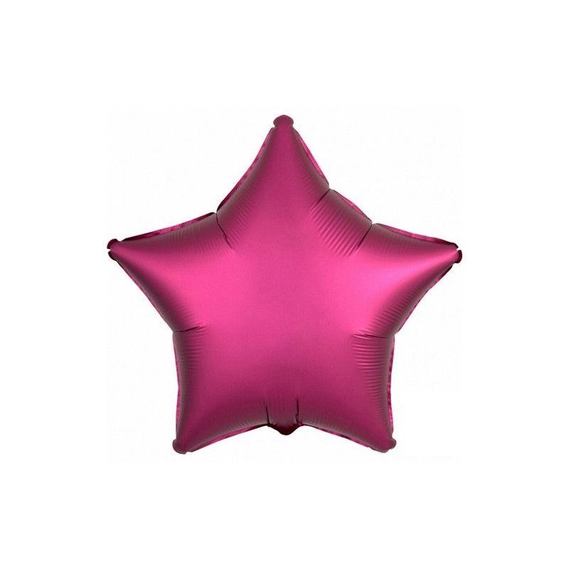 Ballon métallisé Satin Luxe Grenade étoile 43 cm Déco festive 3682901