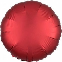 Ballon métallisé Satin Luxe Sangria rond 43 cm Déco festive 3858301