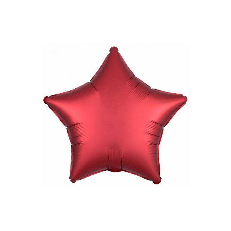 Ballon métallisé Satin Luxe Sangria étoile 43 cm Déco festive 3858501