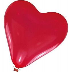 Déco festive, Ballon géant coeur rouge 61 cm, INT996560, 3,90€