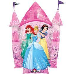 Déco festive, Ballon aluminium forme château Princesse Disney™ 88 cm, 3352801, 6,70€