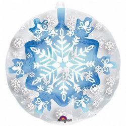 Ballon aluminium rond flocon de neige 60 cm Déco festive 3396201