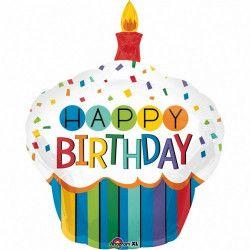 Déco festive, Ballon aluminium cupcake Happy Birthday 91 cm, 3444201, 5,90€